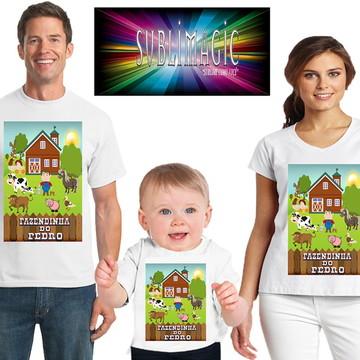 Kit 3 Camisetas Fazendinha