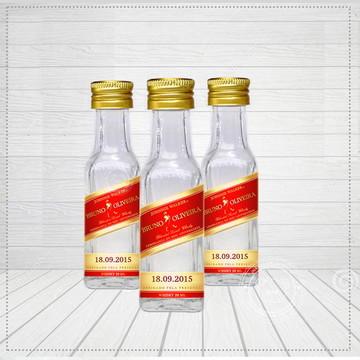 Rótulo adesivo para garrafinha Whisky