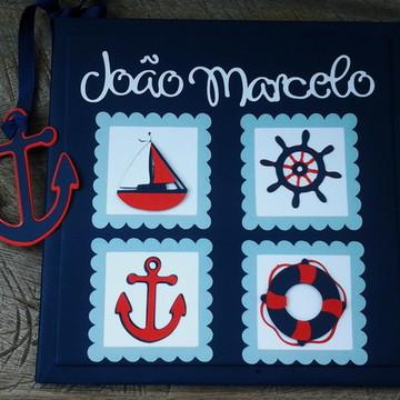 livro do bebe personalizado marinheiro scrapbook