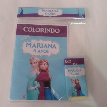 Kit Colorir + Giz de Cera Frozen