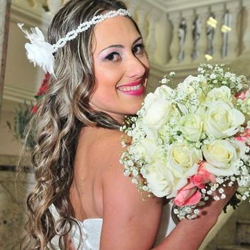 Tiara headband para noiva