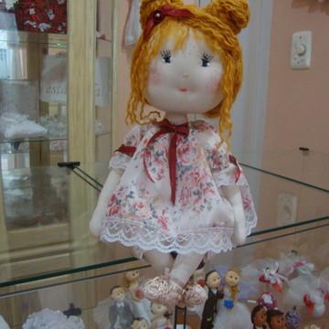 Boneca de pano - bebê Mariana