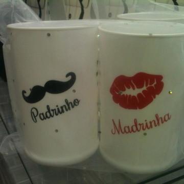 Kit Canecas Madrinha e Padrinho