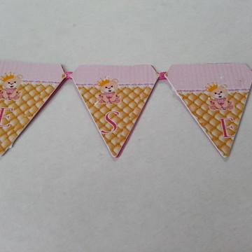 Bandeirola para topo de bolo