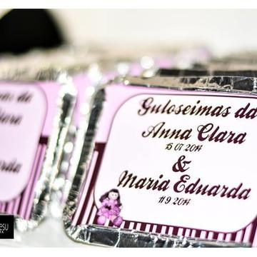 Adesivo de Marmita Boneca Rosa Marrom 250 gr