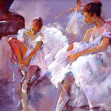 Quadro Pintura a óleo Bailarina