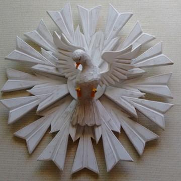 Divino Espírito Santo Madeira 70cm Religiosos Batizado