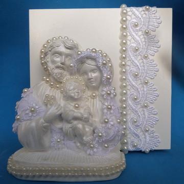 Sagrada Familia para padrinhos com caixa