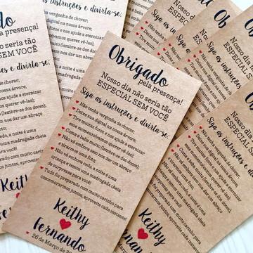 Menu Dicas Casamento Kraft Rústico