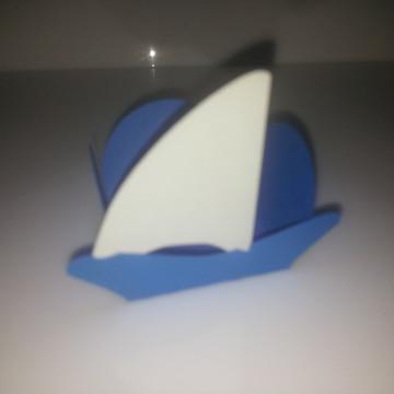 Forminha barco a vela.