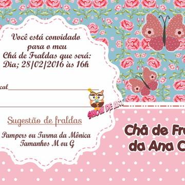 Convite chá de fraldas (Arte)