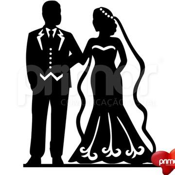 Topo de Bolo Acrílico casal