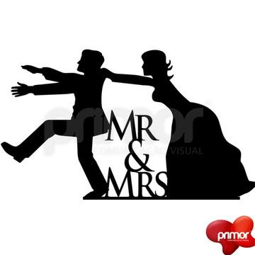 Topo de Bolo Mr & Mrs