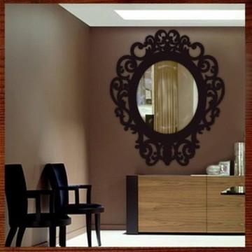 Moldura Para Espelho Em Escultura De Mdf