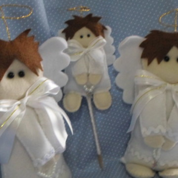 Anjos em feltro