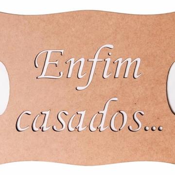 Kit 3 Placas Para Casamento Mdf 3mm