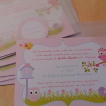 Convite Corujas e Passarinhos