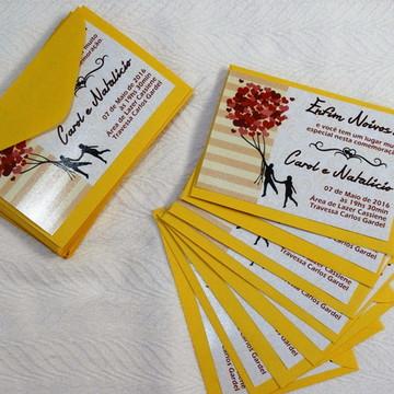 Convite de noivado Personalizado