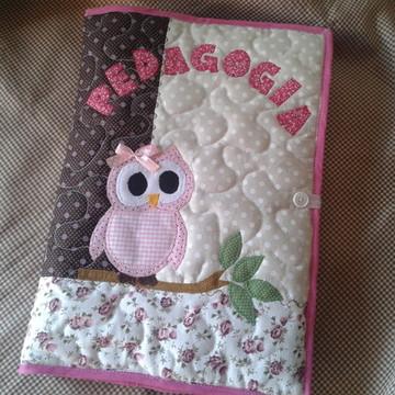 capa caderno patchwork professora