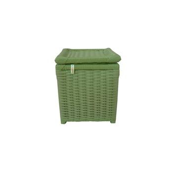 Lixeira De Fibra Sintética Verde 24x24x30
