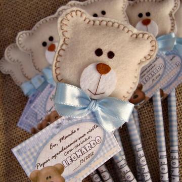 Ponteiras de lápis- Ursinho (azul)