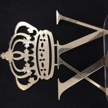 Topo Debutante Coroa XV Espelhado