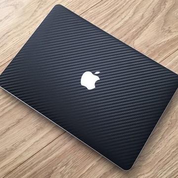 Adesivo Skin Fibra de Carbono Macbook