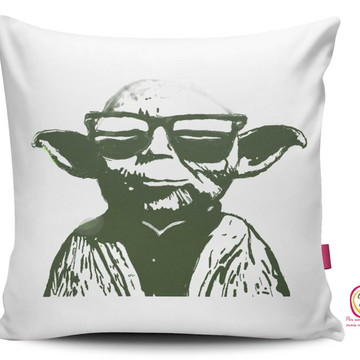 Capa Almofada Star Wars Mestre Yoda Pop