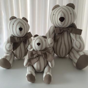(Bi 0100b) Trio de ursos em tecido