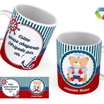 Caneca chá de bebe - Marinheiro