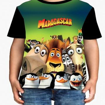 Camiseta Infantil Madagascar - Infantil