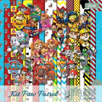 Kit Scrapbook Digital Paw Patrol