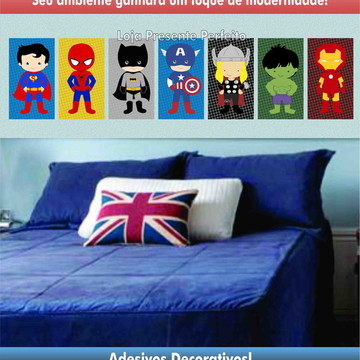 SUPER KIT DECORATIVO - HEROIS BABY