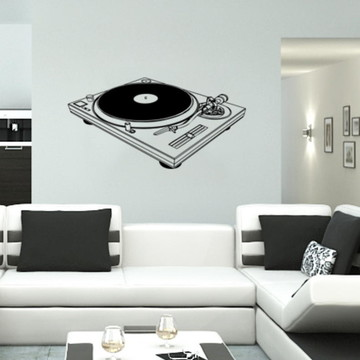 Adesivo Decorativo Vitrola Musical
