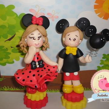 topo bolo personalizado Minnie e mickey