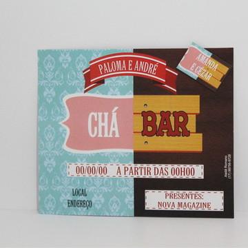 Convite Chá Bar Simples