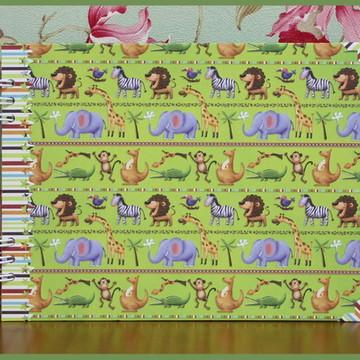 Álbum Básico Bebê Menino Sweet Safari