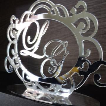 Topo Brasão Prata Espelhado