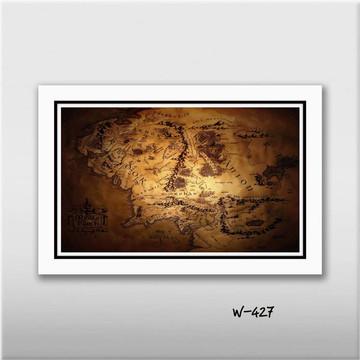 Quadro Hobbit Mapa Terra Media 60x40cm N7 Decoracao Sala