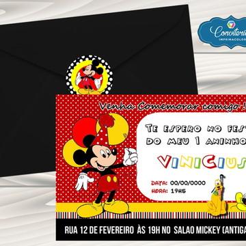 Convite Infantil - Mickey