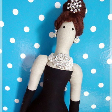 Boneca estilo TILDA - Audrey Hepburn