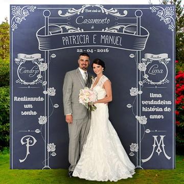 Backdrop para Casamento - Painel Lousa