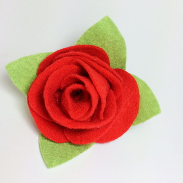Flor de feltro - Rosa de feltro