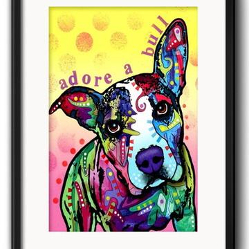 Quadro Pitbull Pop Art com Paspatur