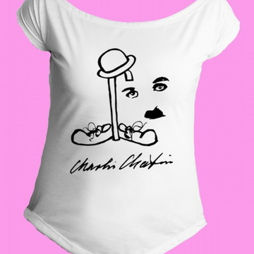 Camiseta charles chaplin gola canoa 1