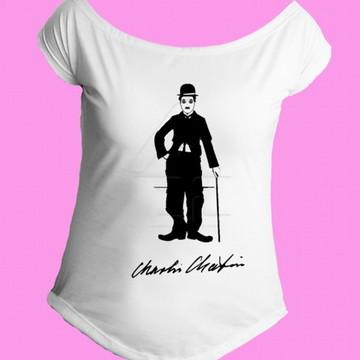Camiseta charles chaplin gola canoa 5