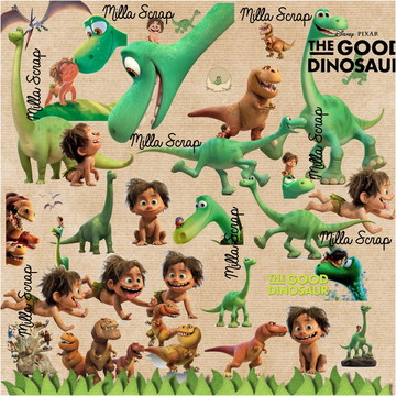 Kit Scrapbook Digital O Bom Dinossauro