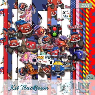 Kit Scrapbook Digital Trucktown