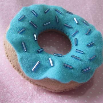 Chaveiro donuts em feltro