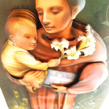 Quadro arte francesa Santo Antonio